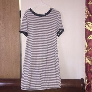 a t-shirt dress.